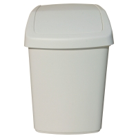Odpadkový kôš s vyklápacím vrchnákom Rubbermaid biely, 10 l