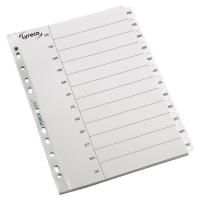 Abecedario Enero-Diciembre  c/separadores reforzados A4  cartón Mylar  LYRECO