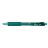 Gélové pero Lyreco Premium, klikacie, zelené