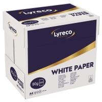 CARTON 2500 FEUILLES REPRO LASER LYRECO PREMIUM BLANC 80G A4