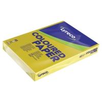 Lyreco gekleurd papier A3 80g zonnegeel - pak van 500 vellen