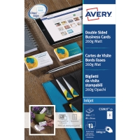 Caja de 200 tarjetas Quick & Clean de inkjet mate AVERY de 85 x 54 mm
