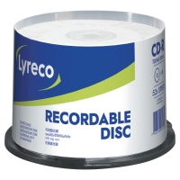 CD-R LYRECO RECORDABLE 52X SPINDEL PAKKE A 50 STK.