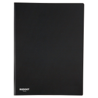 Carpeta flexible de 50 fundas fijas LYRECO en color negro