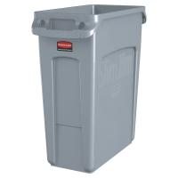 Contenedor RUBBERMAID Slim Jim de 60 litros color gris
