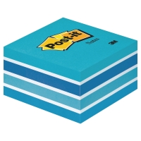 Cubo 450 notas reposicionables Post-it color azul pastel dimensiones 76x76 mm