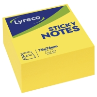 Kocka Lyreco, žltá farba, 76 x 76 mm