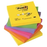 POST-IT Z-NOTES NEON RAINBOW R330NR 76MM X 76MM 6 BLOCK/FP