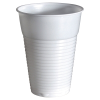 Pack de 100 vasos de poliestireno DUNI 210cc color blanco