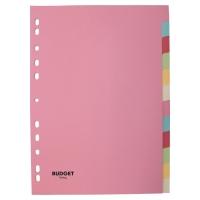 Juego de 12 separadores cartón 160g2  colores pastel  A4  LYRECO Budget