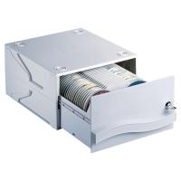 Archivador modular para 120 CD/DVD s sin estuche apilable