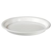 Pack de 50 platos de poliestireno DUNI Ø220mm de color blanco