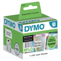 Rollo de 1000 etiquetas multifunción DYMO para LW 57x32 mm color blanco