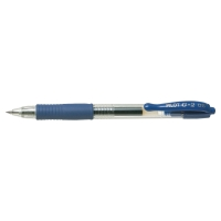 Gélové pero Pilot G-2 fine, klikacie, modré