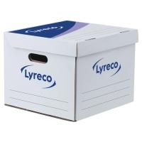 Archivbox Lyreco, B35xT35xH28 cm, weiss/blau