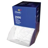 Caja de 2000 paletinas para café DUNI de poliestireno color blanco