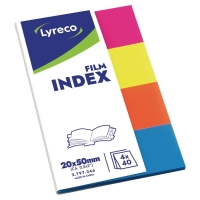SEGNAPAGINA INDEX IN PLASTICA LYRECO 19 X 43MM COLORI ASSORTITI
