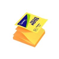 Bločky Zig-Zag Lyreco neónová oranžová/neónová žltá