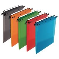 Závesné obaly typu  V  PP L´Oblique A4 mix farieb, balenie 10 kusov