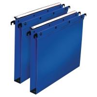 Pack 10 carpetas colgantes A4  PP  lomo 30mm  azul  Dimensiones: 330x250mm  ELBA