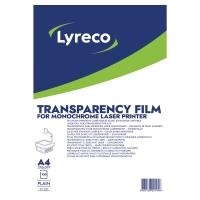 Lyreco transparanten/slides voor laserprinters zonder blad - doos van 100