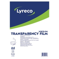 LYRECO OHP WRITE ON TRANSPARENCY FILM 100 MICRON A4 BOX OF 100