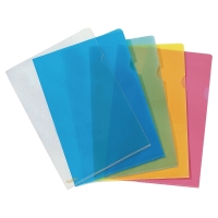 Lyreco Premium L-mappen A4 PP 15/100e blauw - doos van 25