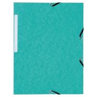 Lyreco chemises à 3 rabats avec élastiques carton 390g vert - paquet de 10