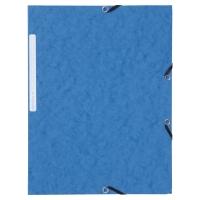 Teczka kartonowa LYRECO z gumką 3 skrzydłowa A4 niebieska opakowanie 10 sztuk