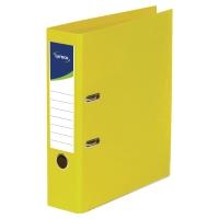 Archivador palanca color amarillo  folio  lomo 80mm LYRECO