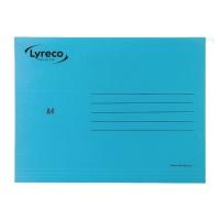 Pack de 25 carpetas colgantes visión superior  A4  color azul  LYRECO Premium