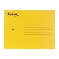 Teczka zawieszkowa LYRECO Premium A4 żółta opakowanie 25 sztuk