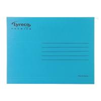 Pack de 25 carpetas colgantes visión superior  folio  color azul LYRECO Premium