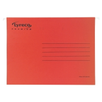 Pack de 25 carpetas colgantes visión superior  folio  color rojo LYRECO Premium