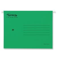 Pack de 25 carpetas colgantes visión superior  folio color verde LYRECO Premium