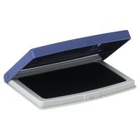 Tampón entintado en caja de plástico nº 2 color azul