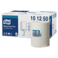 Caja de 6 bobinas de toallas TORK papel virgen/reciclado 2 capas 160 m blanco