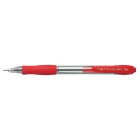Bolígrafo retráctil PILOT Super Grip BP-Gp color rojo