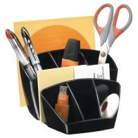 Organizador de sobremesa color negro LYRECO  Dimensiones:    143 x 158 x 93mm