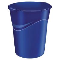 Papelera polipropileno azul LYRECO