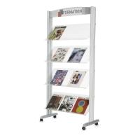 Stojak na foldery PAPERFLOW aluminiowy