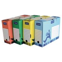 Archivačná prenosná krabica 10 cm Lyreco žltá
