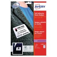Textiletiketten Avery Zweckform L4784, 63,5x29,6 mm, Acetat-Seide, Pk. à 540 Stk
