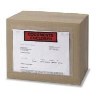 Caja de 250 sobres de envío con ventana y texto impreso de 110 x 161mm