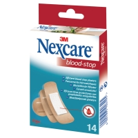 3M Nexcare N1714AS Bloedstop pleisters huidkleurig assortiment - doos van 14