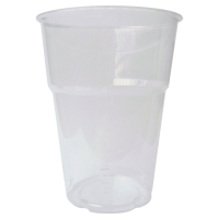 Pack de 50 vasos de poliestireno  transparente DUNI 250cc