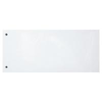 Exacompta petits intercalaires rectangulaires carton 190g blanc - paquet de 100