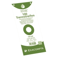 Exacompta scheidingsstroken rechthoekig karton 190g groen - pak van 100