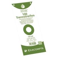 Trennstreifen Exacompta 13445B 240x105 mm, Karton 190 g/m2, grün, Pk. à 100 Stk.