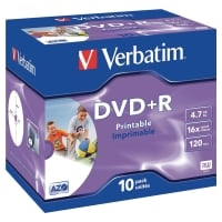 Verbatim DVD-R jewel case 4,7 GB 120 mn- pak van 10